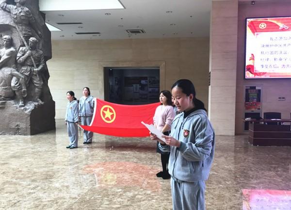 团员代表高艺涵同学发言