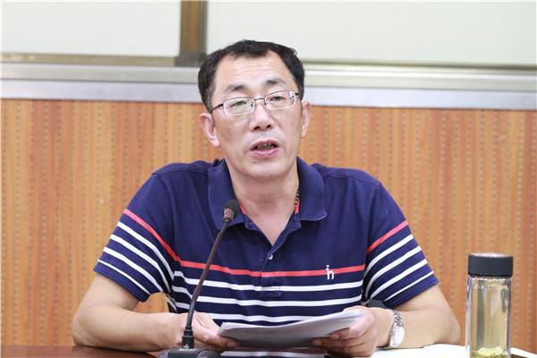 党委副书记、纪委书记祁昌永宣读各项决定