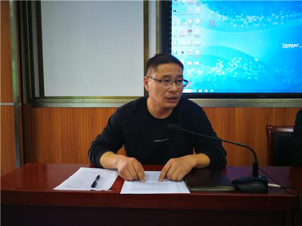 德育处主任程吉勇对演练活动作具体说明